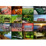 Puzzle  Grafika-Kids-00944 Collage - Benches