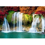 Puzzle  Grafika-Kids-00987 Magnetic Pieces - Waterfall in Forest