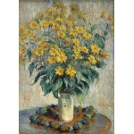 Puzzle  Grafika-Kids-01026 Magnetic Pieces - Claude Monet - Jerusalem Artichoke Flowers, 1880