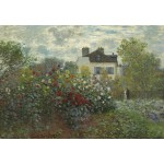 Puzzle  Grafika-Kids-01037 Claude Monet - The Artist's Garden in Argenteuil, 1873