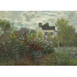 Puzzle  Grafika-Kids-01039 Claude Monet - The Artist's Garden in Argenteuil, 1873