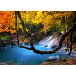 Puzzle  Grafika-Kids-01066 Magnetic Pieces - Waterfall in Forest