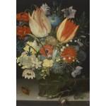 Puzzle  Grafika-Kids-01078 Peter Binoit: Still Life with Tulips, 1623