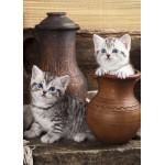 Puzzle  Grafika-Kids-01133 Magnetic Pieces - Kitten in Pot