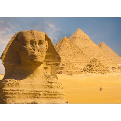 Puzzle Grafika-Kids-01140 Magnetic Pieces - Sphinx and Pyramids at Giza