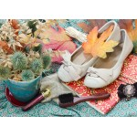 Puzzle  Grafika-Kids-01155 Magnetic Pieces - Vintage Dancing Shoes