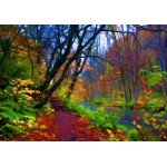 Puzzle  Grafika-Kids-01200 Stylized Autumn Forest