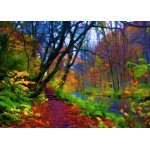 Puzzle  Grafika-Kids-01201 Magnetic Pieces - Stylized Autumn Forest