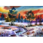 Puzzle  Grafika-Kids-01210 Magnetic Pieces - Winter Water
