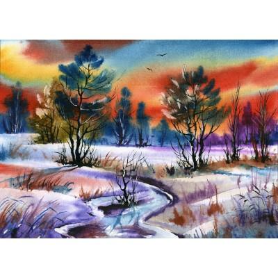 Puzzle Grafika-Kids-01211 Winter Water