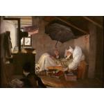 Puzzle  Grafika-Kids-01257 Carl Spitzweg - The Poor Poet, 1839