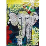 Puzzle  Grafika-Kids-01271 Magnetic Pieces - Thai Elephant