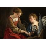 Puzzle  Grafika-Kids-01284 Orazio Gentileschi and Giovanni Lanfranco: Saint Cecilia and an Angel, 1617/1618