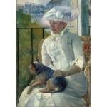 Puzzle  Grafika-Kids-01338 Mary Cassatt: Young Girl at a Window, 1883-1884