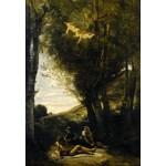 Puzzle  Grafika-Kids-01344 Jean-Baptiste-Camille Corot: Saint Sebastian Succored by the Holy Women, 1874
