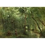 Puzzle  Grafika-Kids-01345 Jean-Baptiste-Camille Corot: The Eel Gatherers, 1860-1865