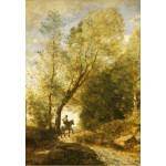 Puzzle  Grafika-Kids-01349 Jean-Baptiste-Camille Corot: The Forest of Coubron, 1872