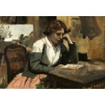 Puzzle  Grafika-Kids-01350 Jean-Baptiste-Camille Corot: Young Girl Reading: Young Girl Reading, 1868