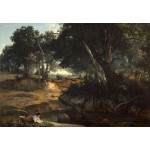 Puzzle  Grafika-Kids-01359 Jean-Baptiste-Camille Corot: Forest of Fontainebleau, 1834