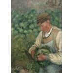 Puzzle  Grafika-Kids-01371 Camille Pissarro: The Gardener - Old Peasant with Cabbage