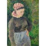 Puzzle  Grafika-Kids-01372 Camille Pissarro: Peasant Woman, 1880