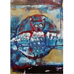 Puzzle  Grafika-Kids-01396 Magnetic Pieces - Owl