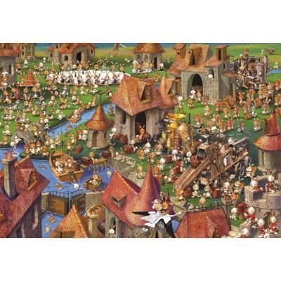 Puzzle Grafika-Kids-01456 François Ruyer - Rabbits!