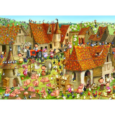 Puzzle Grafika-Kids-01463 François Ruyer - Farm