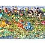 Puzzle  Grafika-Kids-01467 François Ruyer - Dinosaurs