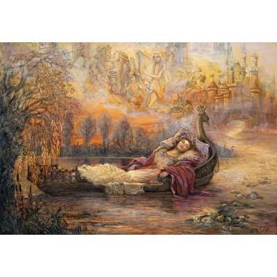 Puzzle Grafika-Kids-01554 Josephine Wall - Dreams of Camelot