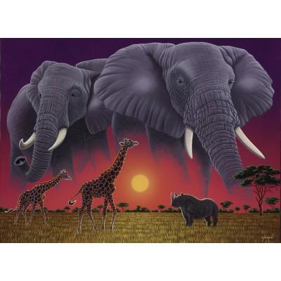 Puzzle Grafika-Kids-01631 Schim Schimmel - Africa's Children