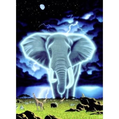 Puzzle Grafika-Kids-01658 Schim Schimmel - Spirit of Africa