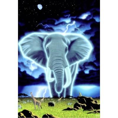 Puzzle Grafika-Kids-01659 Schim Schimmel - Spirit of Africa