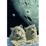 Puzzle  Grafika-Kids-01669 XXL Pieces - Schim Schimmel - Lair of the Snow Leopard