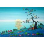 Puzzle  Grafika-Kids-01724 XXL Pieces - Anne Poiré & Patrick Guallino - Soleil sur Livres