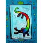 Puzzle  Grafika-Kids-01735 Anne Poiré & Patrick Guallino - Loup Heureux