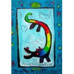 Puzzle  Grafika-Kids-01739 XXL Pieces - Anne Poiré & Patrick Guallino - Loup Heureux