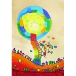 Puzzle  Grafika-Kids-01758 XXL Pieces - Anne Poiré & Patrick Guallino - Les Ombrelles du Bonheur