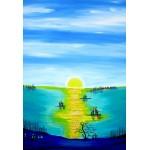 Puzzle  Grafika-Kids-01768 XXL Pieces - Anne Poiré & Patrick Guallino - Aube d'Aigue-marine
