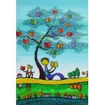 Puzzle  Grafika-Kids-01773 XXL Pieces - Anne Poiré & Patrick Guallino - D'une Feuille l'Autre