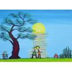 Puzzle  Grafika-Kids-01779 Anne Poiré & Patrick Guallino - Ecrit dans le Ciel