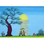 Puzzle  Grafika-Kids-01782 Anne Poiré & Patrick Guallino - Ecrit dans le Ciel