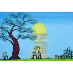 Puzzle  Grafika-Kids-01783 XXL Pieces - Anne Poiré & Patrick Guallino - Ecrit dans le Ciel