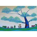 Puzzle  Grafika-Kids-01793 XXL Pieces - Anne Poiré & Patrick Guallino - Feuilles Protectrices