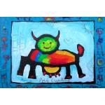 Puzzle  Grafika-Kids-01813 XXL Pieces - Anne Poiré & Patrick Guallino - Vache Radieusement Arc-en-ciel
