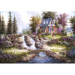 Puzzle  Grafika-Kids-01846 Dennis Lewan - Alpine Falls