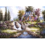 Puzzle  Grafika-Kids-01847 Magnetic Pieces - Dennis Lewan - Alpine Falls