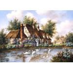 Puzzle  Grafika-Kids-01868 Dennis Lewan - Admiring The Swans