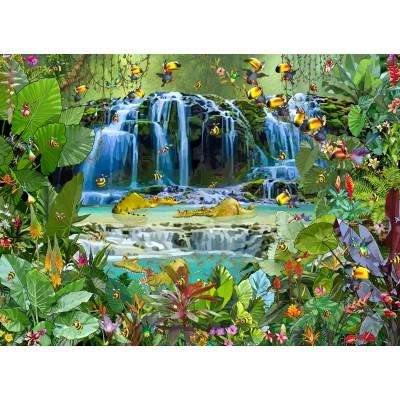 Puzzle Grafika-Kids-01943 François Ruyer - Waterfall