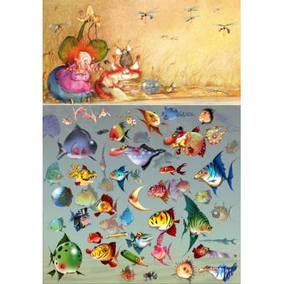 Puzzle Grafika-Kids-01974 François Ruyer - Witch
